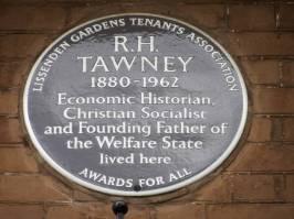 R H Tawney, 21-20 Parliament Hll Mansions, Lissenden Gardens NW5